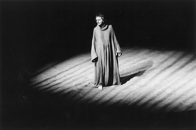 Alexander Kinney as Richard in Shakespeare's Richard II. Costume by J. W. Travis. Dept. of Dramatic Art, UC Berkeley