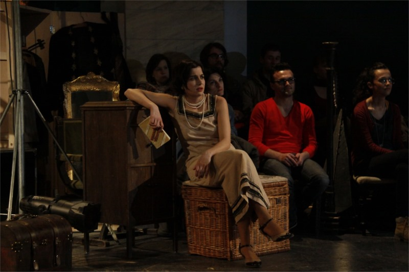 "Ioana Iacob (Arkadina) in ""The Seagull"" at the German State Theatre Timişoara, photo by Zsolt Fehérvári"