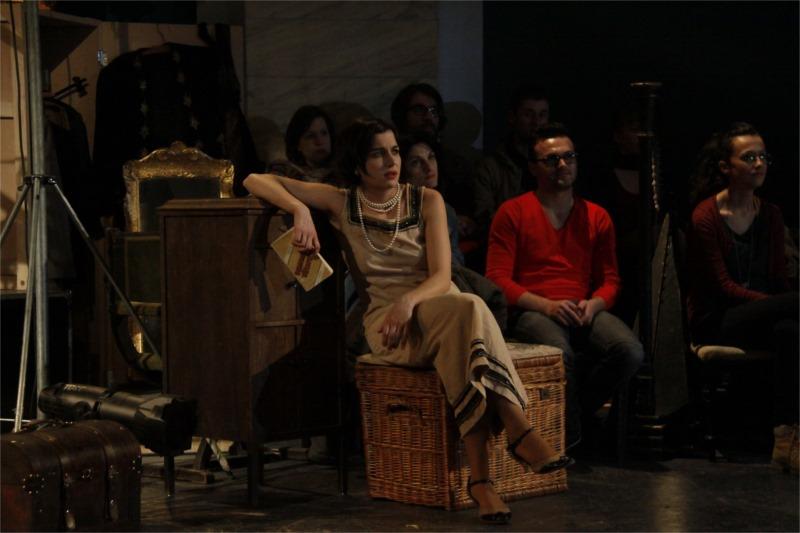 "Ioana Iacob (Arkadina) in ""The Seagull"" at the German State Theatre Timişoara, photo by Zsolt Fehérvári"
