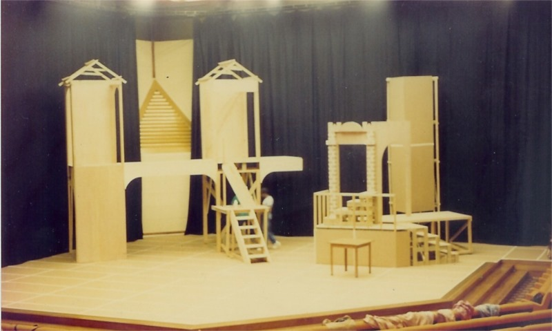 "G. Edgar White Monsterrat, ""Marcus Garvey and the Captivity of Babylon"", Dir. Earl Warner, Set Design Akyem Ramsay & Ishi Butcher, Producer WWB Productions, Frank Collymore Hall, Bridgetown, Barbados, 1991."
