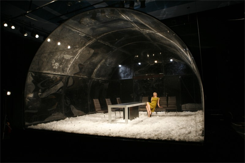 The paperweight (snowglobe) - The new Doll's House. Stage design Ognyana Serafimova, photo Georgi Vachev