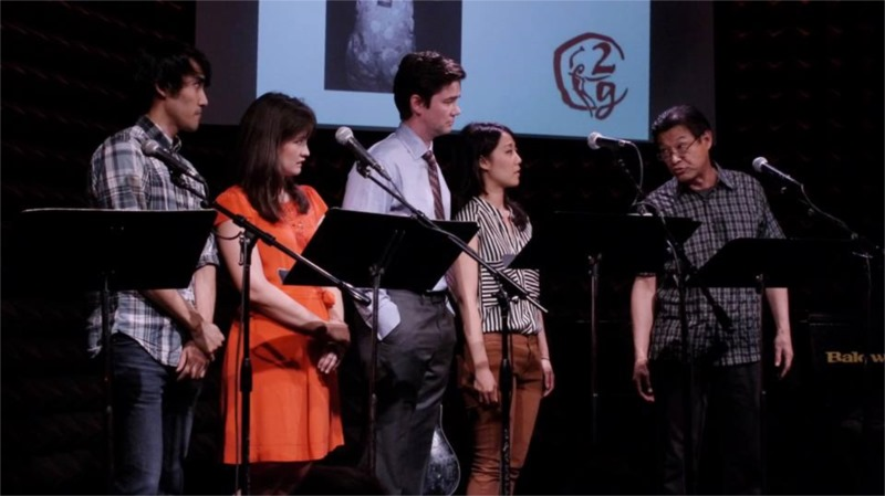 "Bobby Foley, Allison Buck, Jed Orlemann, Elena Chang and James Saito in ""Not Far From China,"" written by Anna Moench, part of ""2G: Sixteen Going on Seventeen"" at Joe's Pub © Courtesy of 2g"