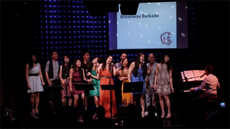 """Victor Maog with Broadway Barkada at """"2G: Sixteen Going on Seventeen"""" at Joe's Pub © Courtesy of 2g"""