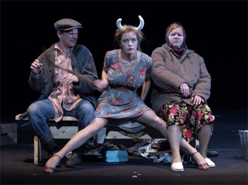 "Chewing the cud in Alvis Hermanis' New Riga Theatre production of ""Black Milk."""