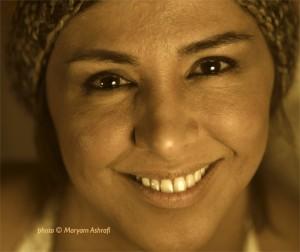 Shabman Tolouei, comédienne iranienne, auteure et metteure en scène © Maryam Ashrafi