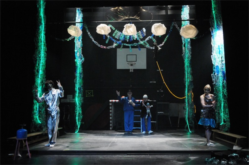 """Blackface on the basketball court for """"Prince Bhadra"""", directed by J A Pitinsky"""