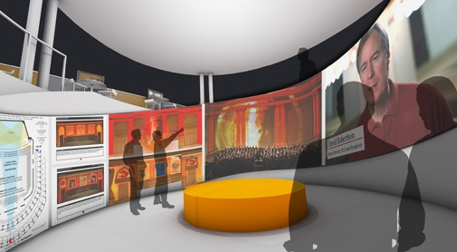 The initial design submission from Wingspace Theatrical Design helped the curators choose the collective to design the USITT/USA exhibit for the 2015 Prague Quadrennial